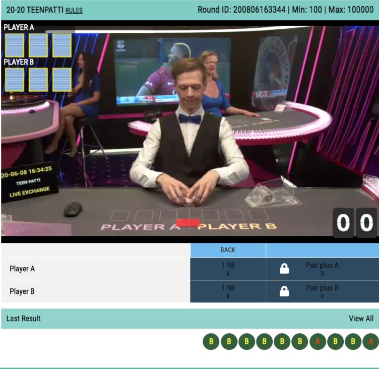 20-20 Teen Patti online casino live betting