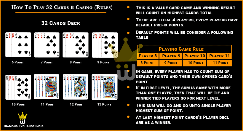32 cards casino online live betting