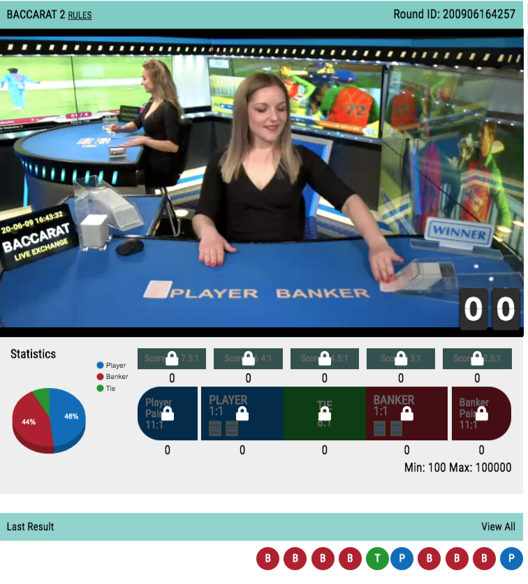 Baccarat 2 Online Casino Live Betting Account Id