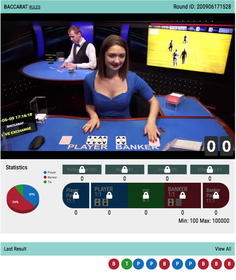Baccarat Online live betting and Game rules