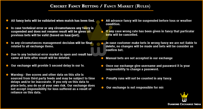 Cricket Fancy Bet Market Rules And Betting Account id