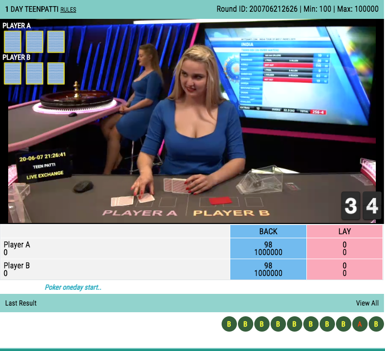 One day Teen Patti Online Live Betting Account Id
