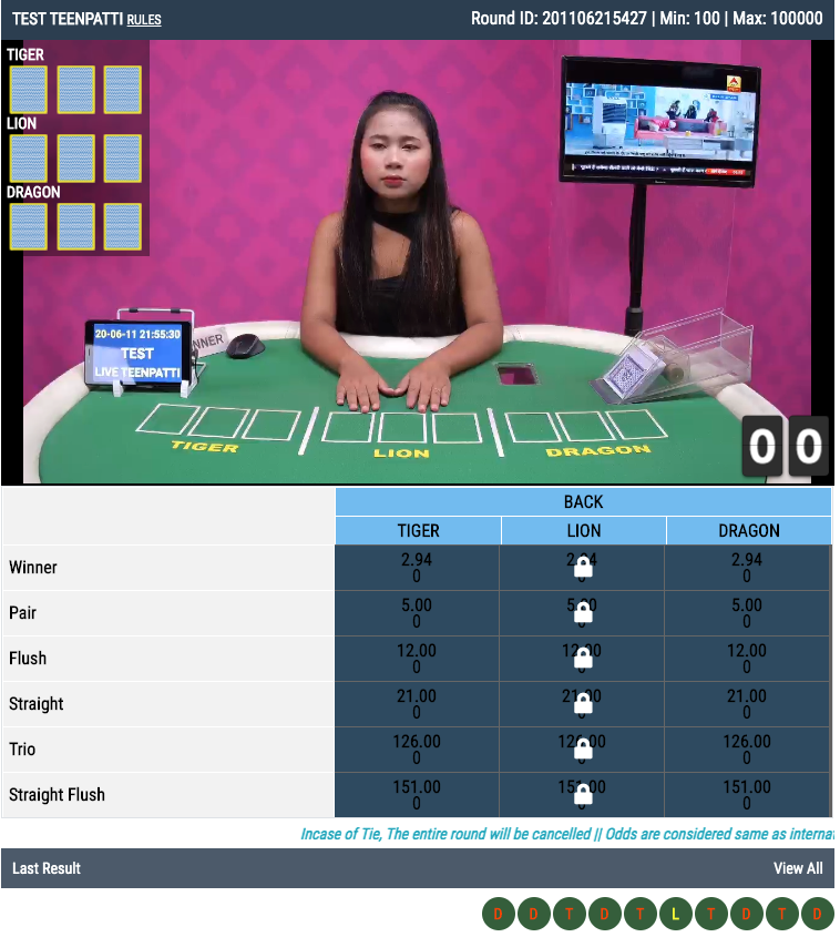 Test Teen Patti Online Live Betting Account Id